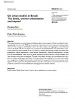 On urban studies in Brazil:The favela, uneven urbanisation and beyond